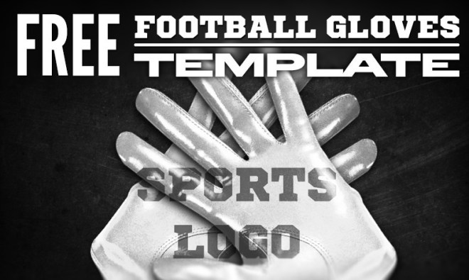 Football Gloves PSD Mockup Template