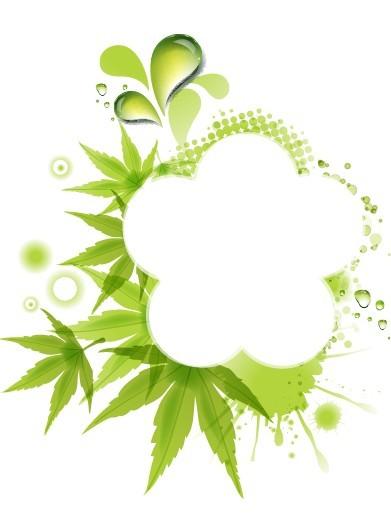 Fresh Green Leaf Frame Vector