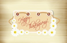 Happy Thanksgiving Flower Frame Vector