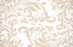 Light Brown Floral Swirls Pattern Vector