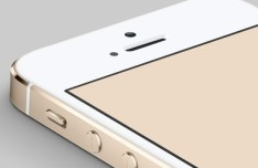 Gold iPhone 5S PSD Mockup