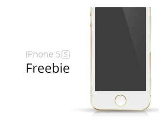 Gold iPhone 5S Template Vector