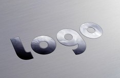 Metallic Logo MockUp PSD