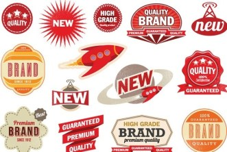 Set Of Vector Simple Promotion Label Stickers 01