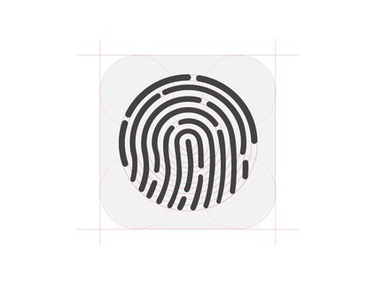 iPhone 5S Touch ID Icon Construction PSD