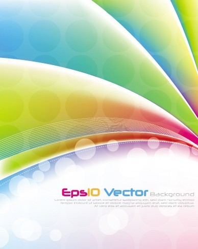 Fantastic & Colorful Abstract Background Vector 04