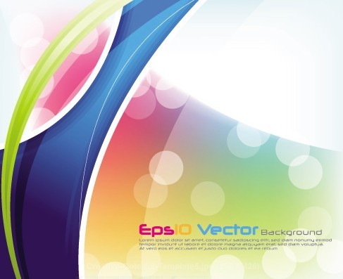 Fantastic & Colorful Abstract Background Vector 05
