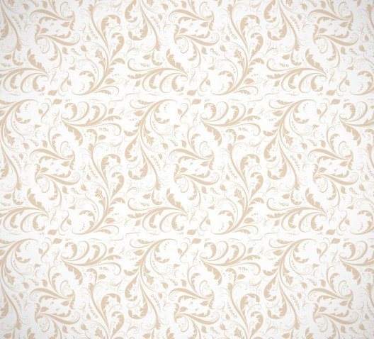 Seamless Classical Brown Floral Pattern Background Vector