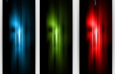 Set Of Vertical Banners With Colorful Abstract Waves Backgrounds 03