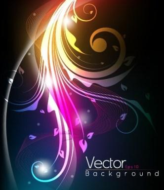 Shining Flourish Floral Background Vector 03