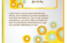 Hand Drawn Yellow Abstract Circles Background Vector 04