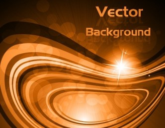 Sparkling Abstract Waves and Halos Background Vector 01