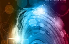 Sparkling Abstract Waves and Halos Background Vector 03