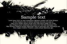 Black Splashed Ink Grunge Background Vector 01