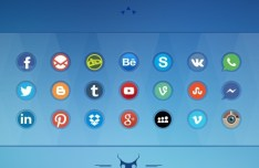 21 Circular Social Media Icons