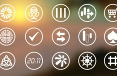 Abstract Metro Icons