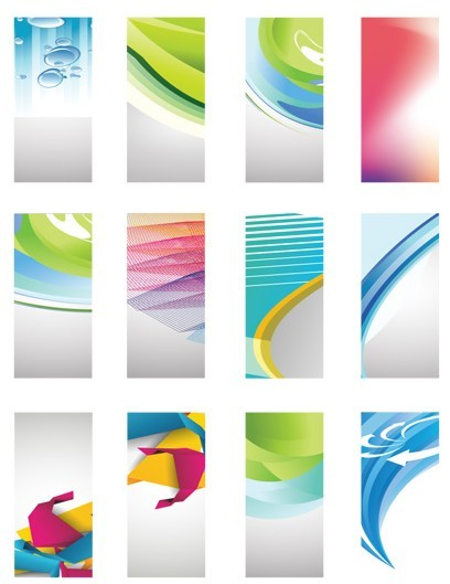 Collection Of Clean Technology Business Card Templates Vector
