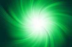 Green Radial Lights Background Vector 02