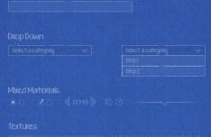 Website Blueprint Wireframe PSD