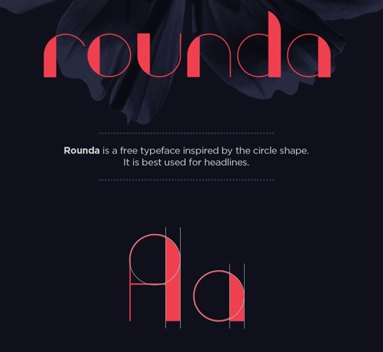 Rounder Typeface Vector