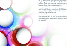 Colorful Abstract Circles Background Vector