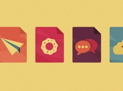 Flat File Type-Style Web Icons PSD