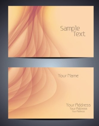 Elegant Brown Business Card Template with Abstract Background Vector