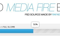 Clean Blue Upload Bar PSD