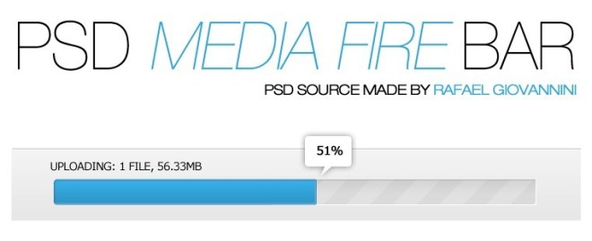 Clean Blue Upload Bar PSD