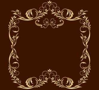 Gold Royal Floral Frame Vector 05