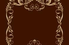 Gold Royal Floral Frame Vector 05