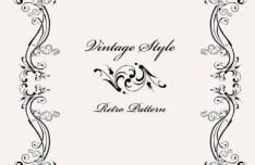 Vintage Styled Simple Dark Floral Frame Vector 04