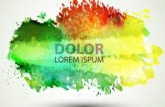 Watercolor Blot Background Vector 04