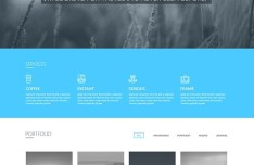 Blueasy Website Template PSD