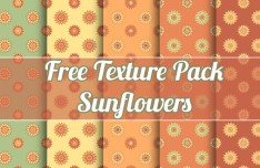 Set Of Lovely Sunflowers Textures