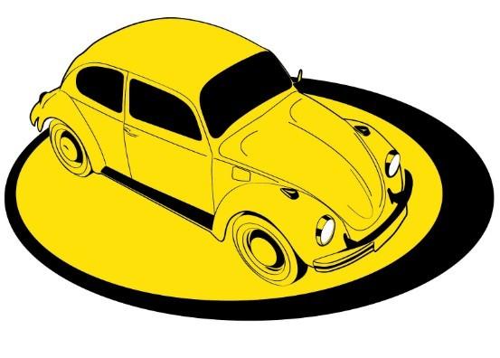 Yellow Old Car Vector Illustration