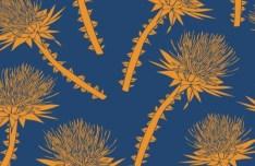 Seamless Vintage Flower Pattern Design Vector
