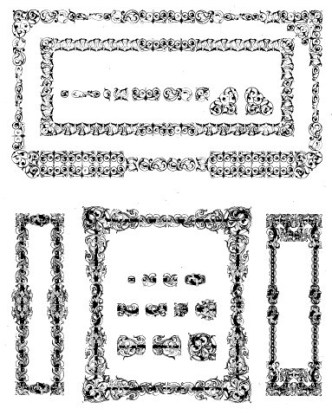 Set Of Vector Classical Pattern Frames