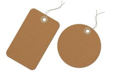 Brown Corrugated Paper Tag PSD
