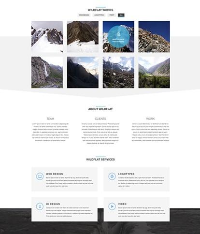 WildFlat - Creative Flat Web Template PSD