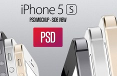 iPhone 5S Side View PSD Mockup