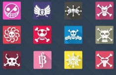 20 Long Shadow One Piece Icons Vol 1