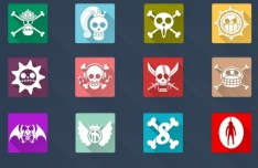 20 Long Shadow One Piece Icons Vol 2