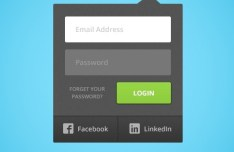 Drop Down Login Form UI PSD