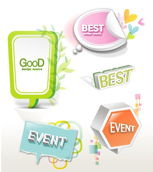 Lovely Retail Sale Labels & Stickers Vector 03