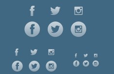 The Big Three Simple Social Icons