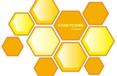 Simple Yellow Honeycomb Background Vector