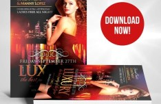Luxury Nights Flyer Template PSD