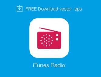 iTunes Radio Logo Vector