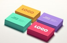 Colored Business Card PSD Mockups